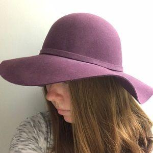 Purple Nordstrom wide-brimmed hat